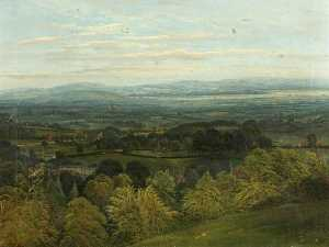 Rosemary Allan - View across the Severn from Doverow Hill, Gloucestershire