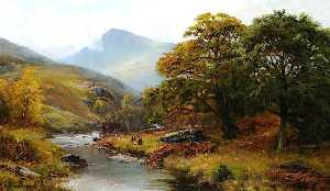 James Henry Crossland - Great End from Borrowdale, Cumbria