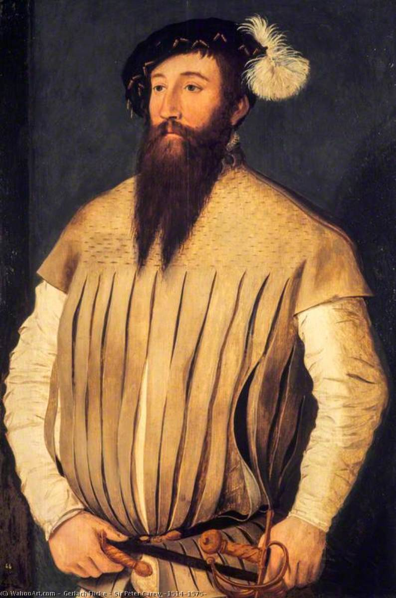 Sir Peter Carew (1514–1575) by Gerlach Flicke | Famous Paintings Reproductions | WahooArt.com
