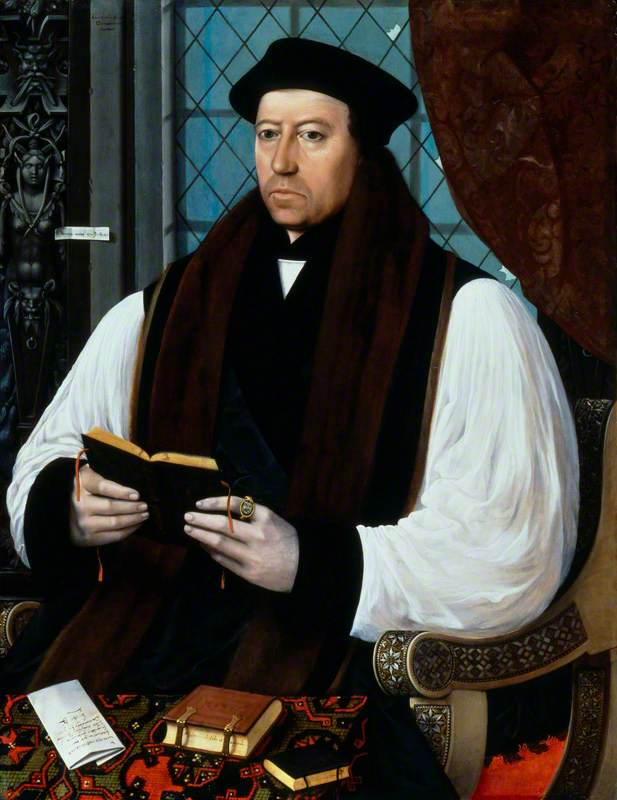 Thomas Cranmer, Oil On Panel by Gerlach Flicke
