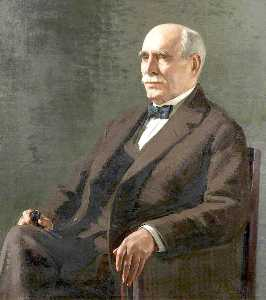 Order Paintings Reproductions | Ernest Page, Recorder of Carlisle, Honorary Freeman of the City, 1922 by James Penniston Barraclough | WahooArt.com