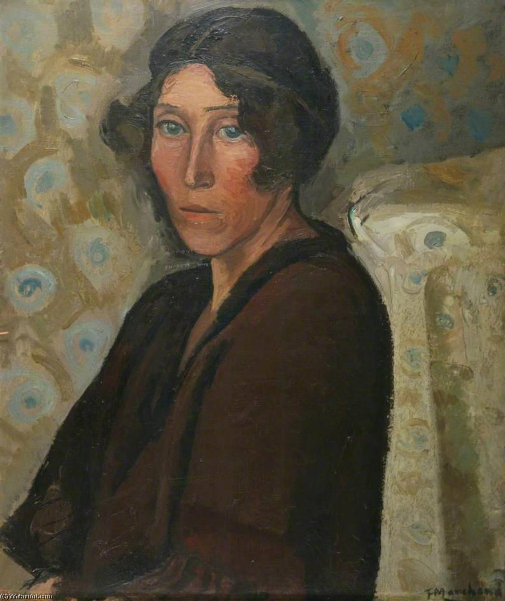The Lady in Brown, Oil On Canvas by Jean Hippolyte Marchand (1883-1940)