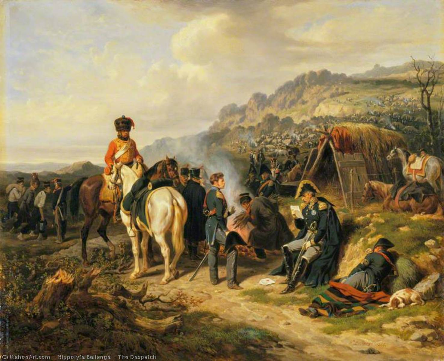 Order Museum Quality Copies | The Despatch, 1845 by Hippolyte Bellangé (1800-1866) | WahooArt.com