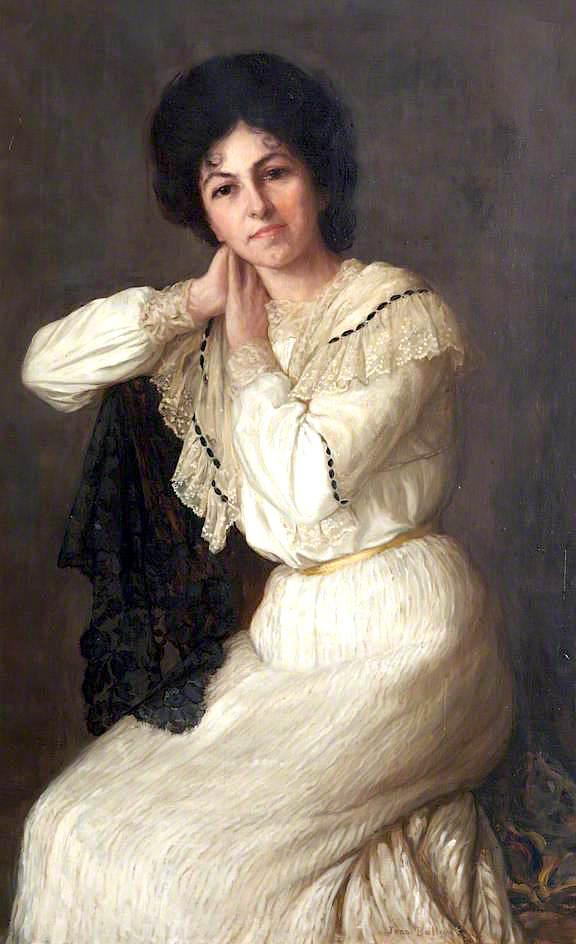 Miss Bertha Salter, Singer from North Devon, 1890 by John Ballantyne | Famous Paintings Reproductions | WahooArt.com