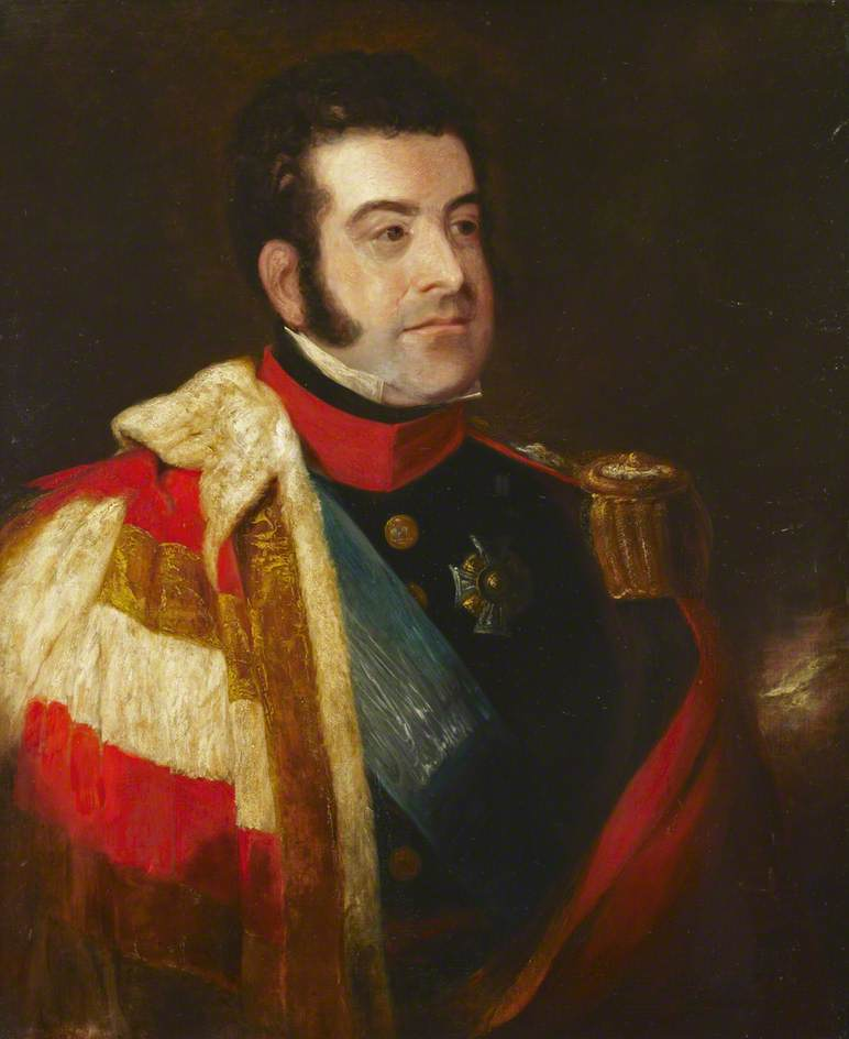 Major General George Augustus Frederick Fitzclarence (1794–1842), 1st Earl of Munster, Oil On Canvas by James Atkinson