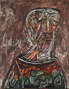 Francis Newton Souza - Untitled (Head of an Old Man)