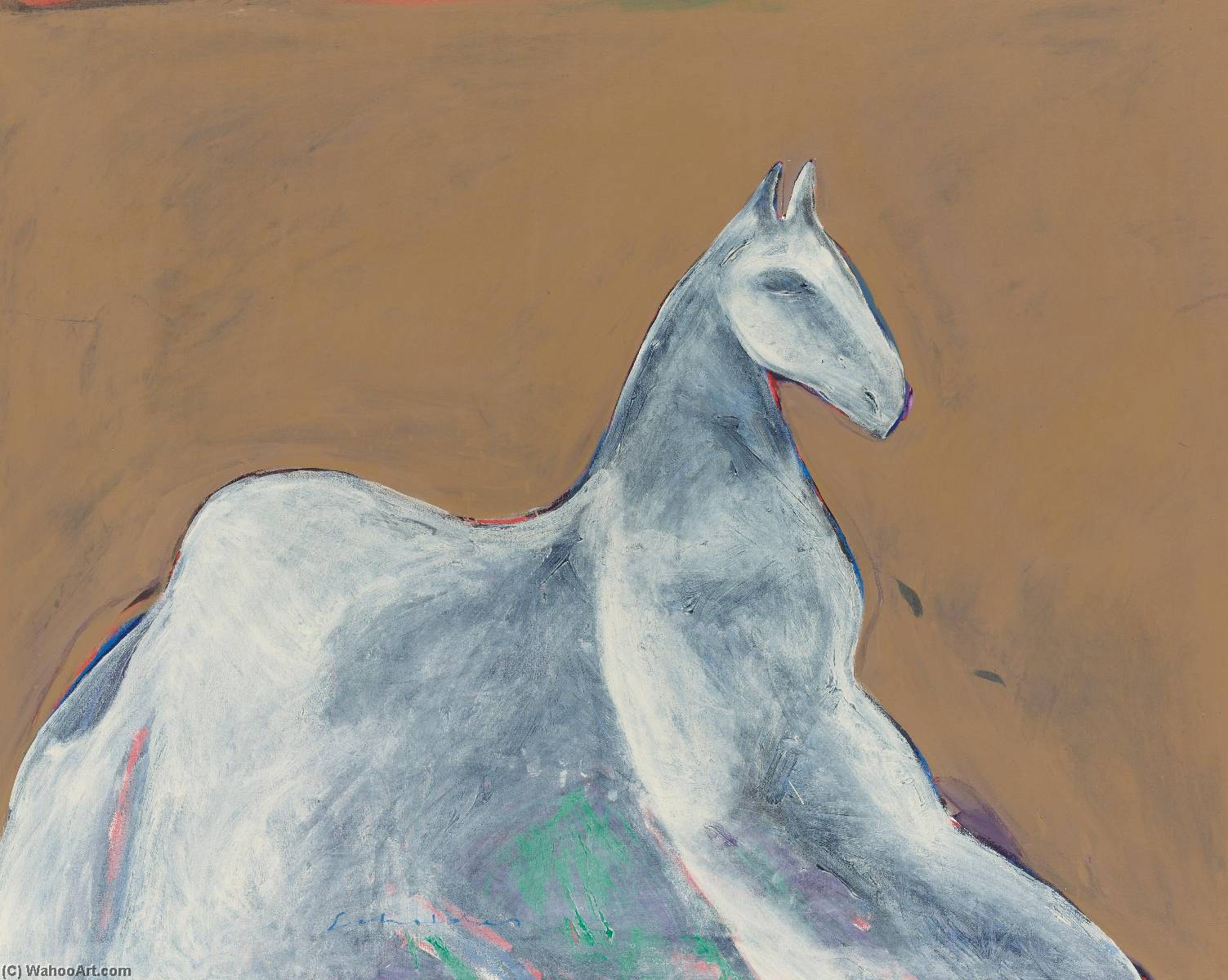 Dream Horse by Fritz Scholder | Museum Quality Reproductions | WahooArt.com