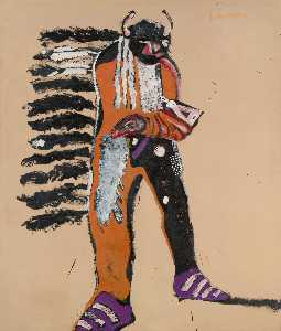 Fritz Scholder - Indian with Tomahawk