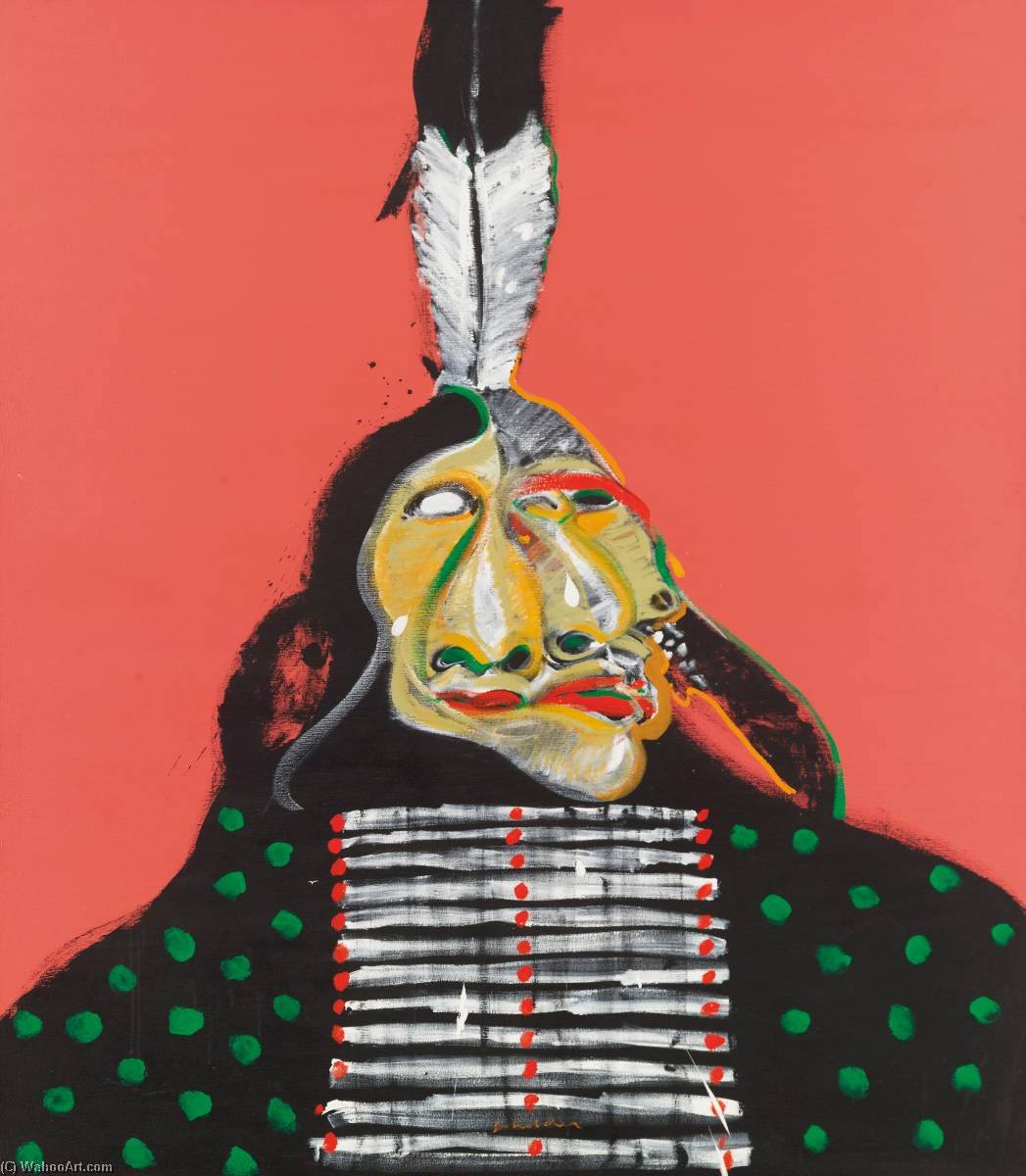 Insane Warrior by Fritz Scholder | Art Reproduction | WahooArt.com