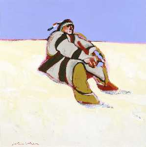 Fritz Scholder - Indian in the Snow
