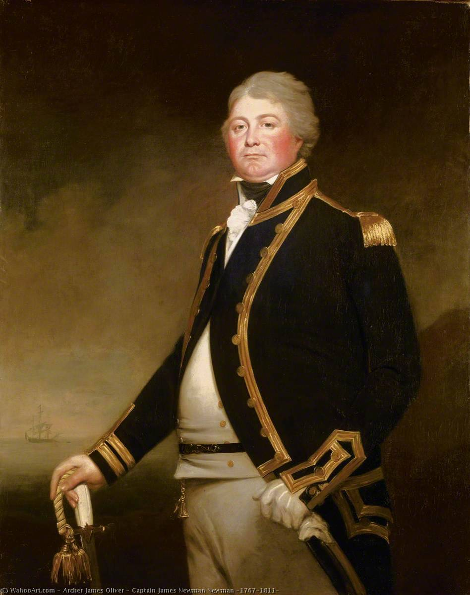 Buy Museum Art Reproductions | Captain James Newman Newman (1767–1811), 1801 by Archer James Oliver | WahooArt.com