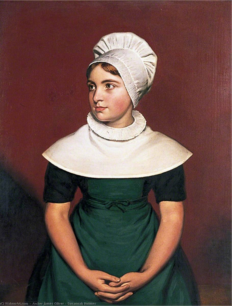 Susannah Holmes, 1825 by Archer James Oliver | Paintings Reproductions Archer James Oliver | WahooArt.com