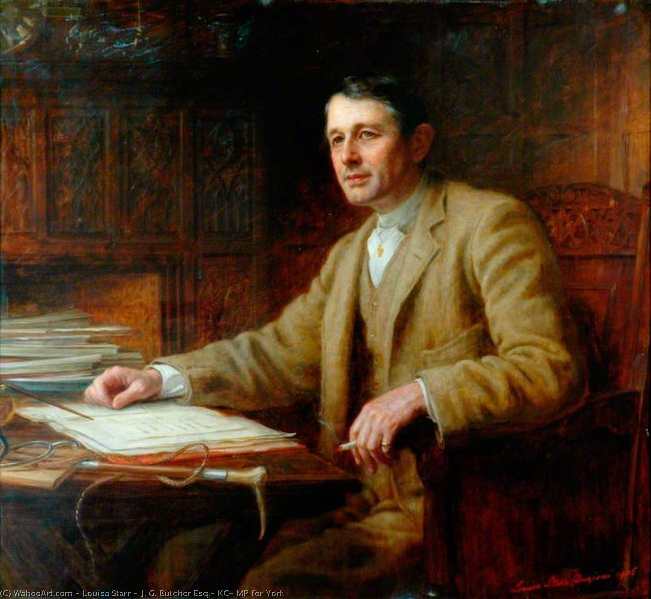 J. G. Butcher Esq., KC, MP for York, 1906 by Louisa Starr (1845-1909) | Museum Quality Reproductions | WahooArt.com