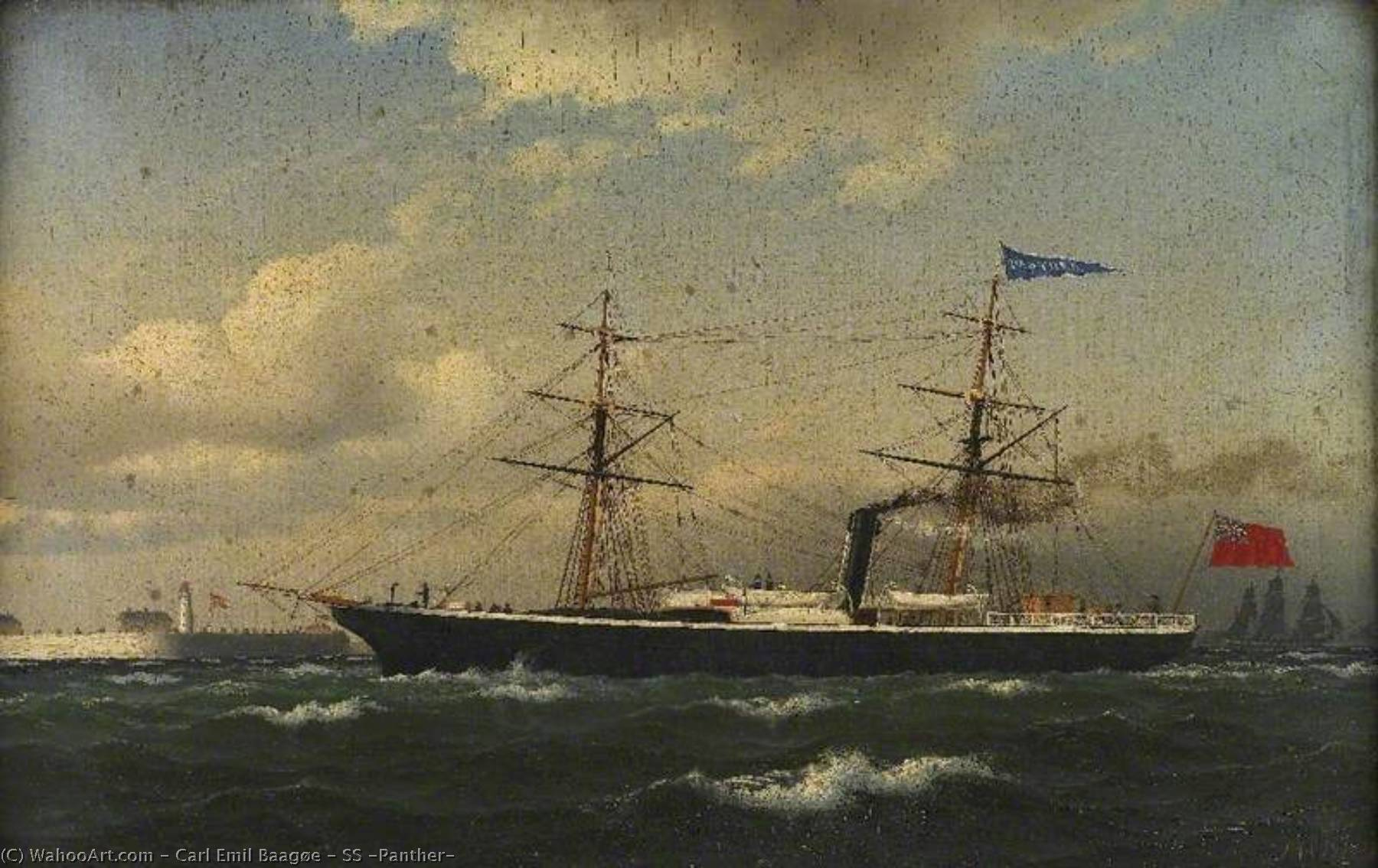 SS `Panther`, 1863 by Carl Emil Baagøe | Paintings Reproductions Carl Emil Baagøe | WahooArt.com