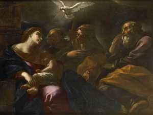 Giovan Battista Beinaschi - Holy Family with Sts Anne and Joachim
