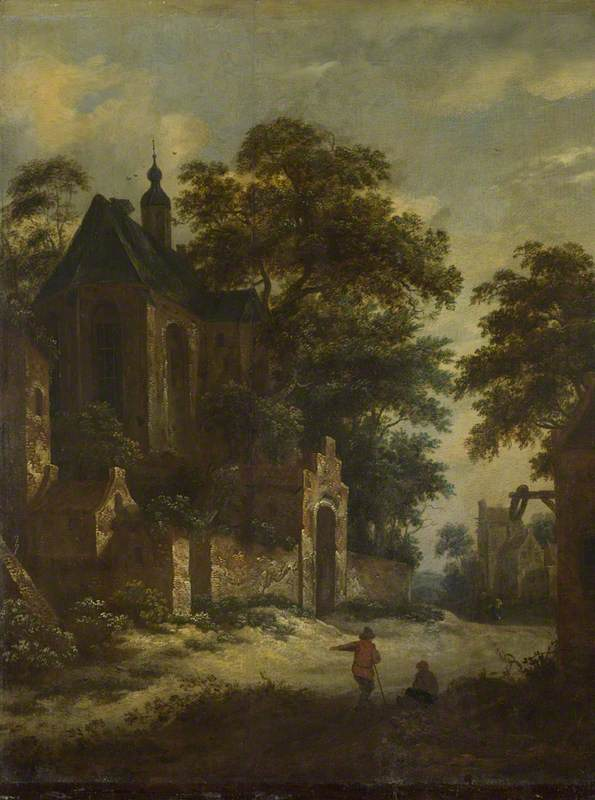 A View of a Village by Roelof Jansz Van Vries (1631-1681, Netherlands) | Painting Copy | WahooArt.com