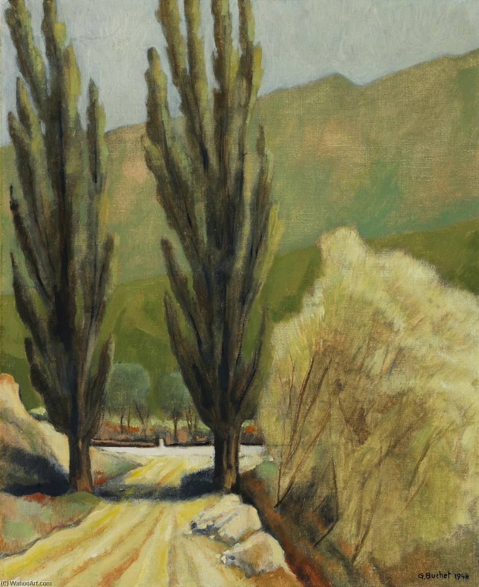 Printemps à Sierre, 1946 by Gustave Buchet | Oil Painting | WahooArt.com
