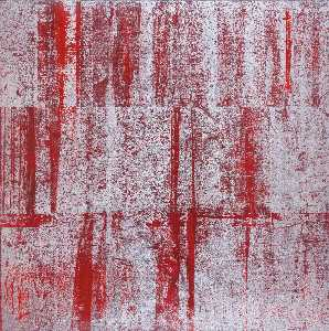 Gusti Agung Mangu Putra - Red Abstract 2 (Red Stacked Silver)