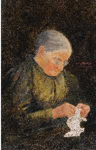 Hans Gantner - Portrait of the artist's mother