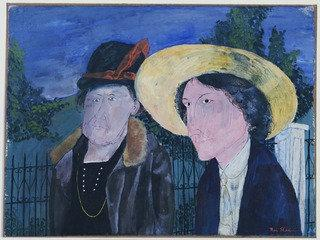 Two Witnesses, Mellie Edeau and Sadie Edeau, 1932 by Benjamin Shahn (1898-1969, Lithuania) | WahooArt.com