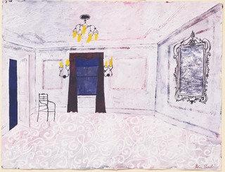 The Room. Set design for the play him, Paper by Benjamin Shahn (1898-1969, Lithuania)