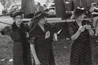 Women at Fourth of July Carnival and Fish Fry, Ashville, Ohio, Print by Benjamin Shahn (1898-1969, Lithuania)