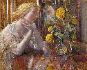 Frederick Childe Hassam - Maréchal Niel Roses