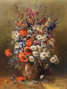 Karl Vikas - Large Bouquet Of Summer Flowers