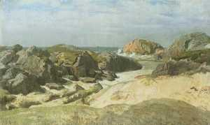 Order Museum Quality Reproductions : Landscape at Ogne by Kitty Kielland | WahooArt.com
