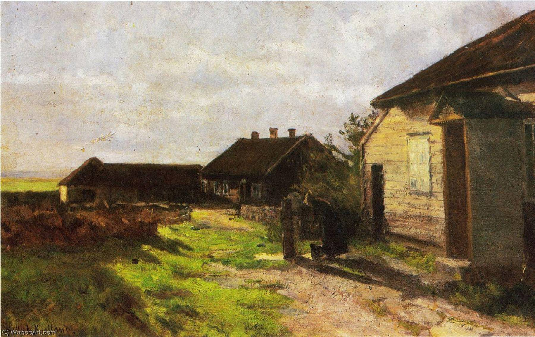 Farmstead at Kvalbein, 1904 by Kitty Kielland