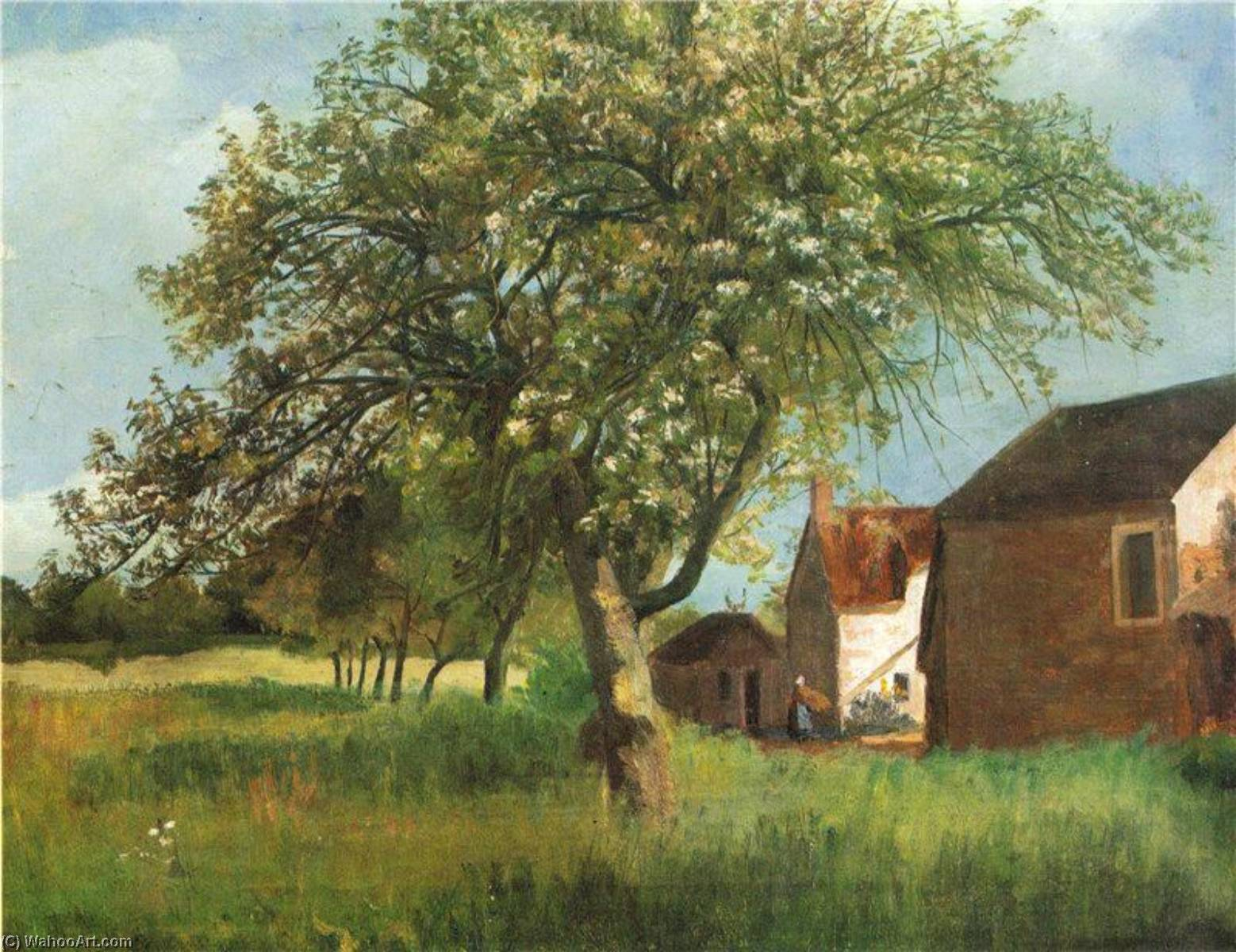 Flowering Tree in Cernay la Ville by Kitty Kielland | Famous Paintings Reproductions | WahooArt.com