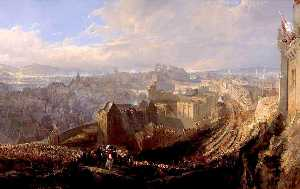 John Wilson Ewbank - The Entry of George IV into Edinburgh from the Calton Hill, 1822