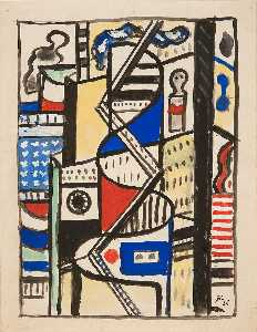 Fernand Leger - Study for a Decoration at Radio City, New York
