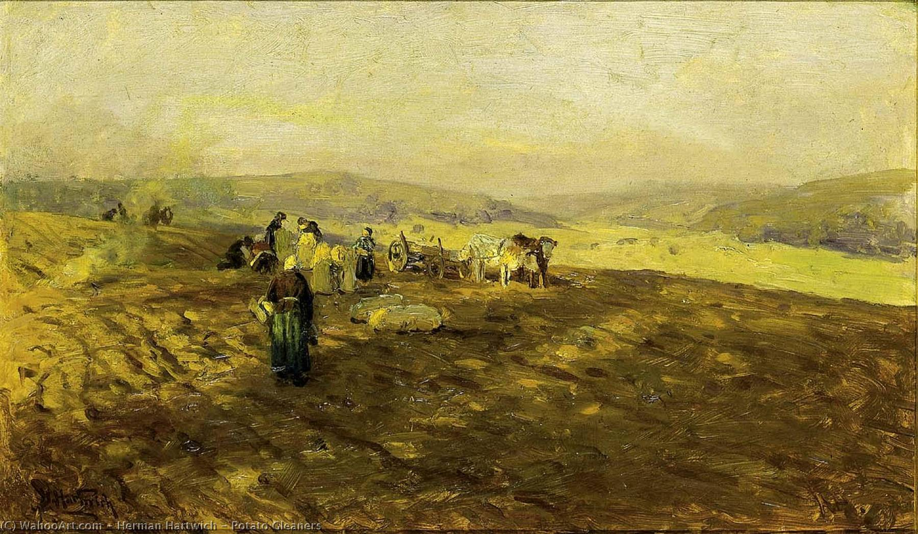 Potato Gleaners by Herman Hartwich | Museum Quality Reproductions | WahooArt.com