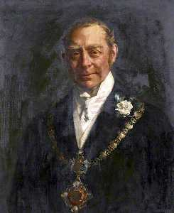 John Henry Frederick Bacon - Hugh Cecil Lowther, 5th Earl of Lonsdale, Wearing the Whitehaven Mayoral Chain