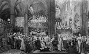 John Henry Frederick Bacon - The Coronation Ceremony of His Most Gracious Majesty King George V in Westminster Abbey. 22nd June 1911