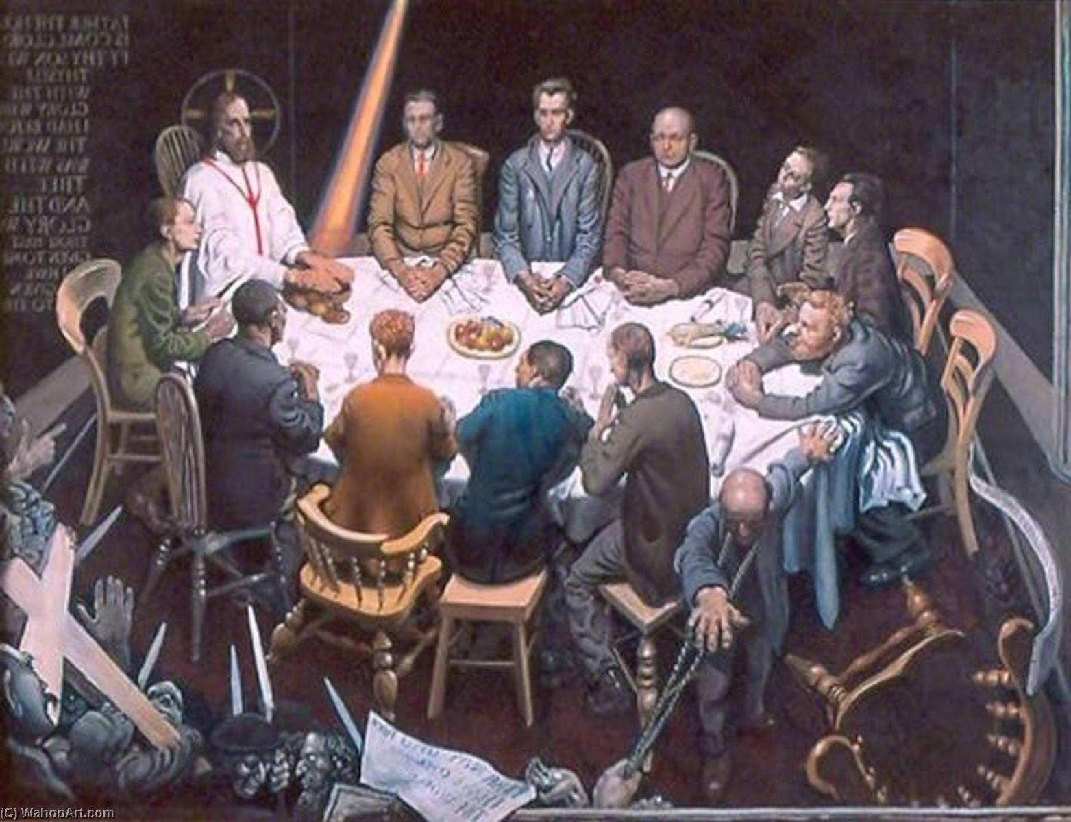 The Last Supper, Oil On Canvas by Mark Lancelot Symons