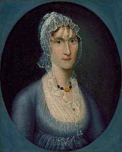 Joshua Johnson - Portrait of Mrs. Barbara Baker Murphy (Wife of Sea Captain)