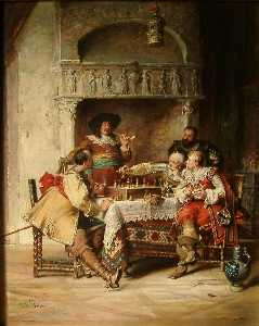 Paul Emanuel Gaisser - Musketeers Playing Chess