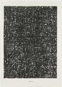 Jean Philippe Arthur Dubuffet - Writing (Ecriterie) from the portfolio Scrap Plates II (Planches de rebut II) from Phenomena (Les Phénomènes)