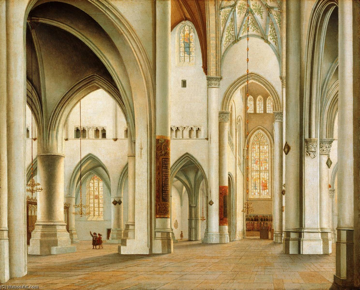 The Interior of St. Bavo, Haarlem, 1628 by Pieter Jansz Saenredam (1597-1665, Netherlands)