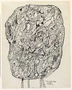 Jean Philippe Arthur Dubuffet - Table Laden with Objects (Table chargée d'objets)