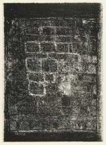 Jean Philippe Arthur Dubuffet - Wall with Black Borders (Mur aux marges noires), rejected plate for the book Les Murs by Eugène Guillevic