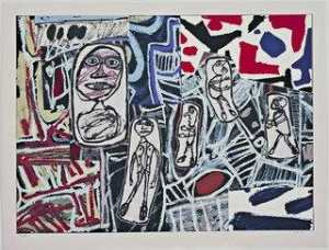 Jean Philippe Arthur Dubuffet - Memorable Facts III (Fiats mémorables III) from the series Memorable Facts