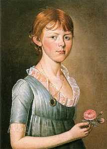 William Jennys - Miss Pike Holding a Rose