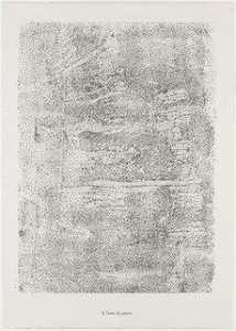 Jean Philippe Arthur Dubuffet - Stone Text (Texte de pierre) from the portfolio Textures from Phenomena (Les Phénomènes)