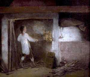 William Redmore Bigg - Firing Pottery
