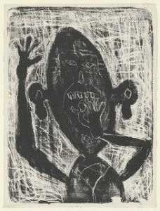 Jean Philippe Arthur Dubuffet - Man Eating a Small Stone (Homme mangeant une petite pierre)