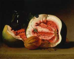 Raphaelle Peale - Melons and Morning Glories