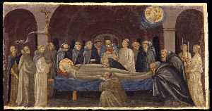 Order Painting Copy : The Funeral of St Jerome, 1431 by Francesco D'antonio Di Bartolommeo | WahooArt.com